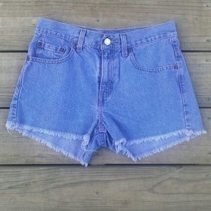 Levi's high-waisted cut off shorts size 5 juniors